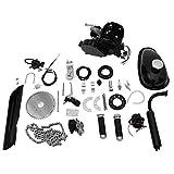 Lanhui 80cc Bicycle Engine Kit, 2-Stroke Gas Engine Motor Kit DIY Motorized Bicycle Motorized Bike Parts,Full Set Black Cycle Petrol Gas Motor Engine Kit for Bike Motor Bicycle Motorized (Color: Black)