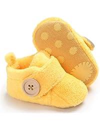 Baby Boys Girls Cozy Fleece Winter Booties Non Skid Soft Sole Shoes Warm Winter Socks