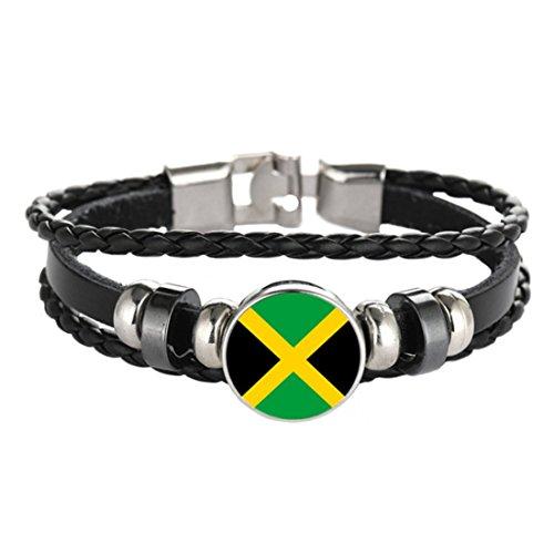 Flag Braided bracelet ,Italian flag bracelet ,Greek flag bracelet ,New Zealand flag bracelet (Jamaican flag)