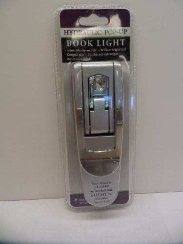 Silver Pop-Up Booklight from Christian Art Gifts