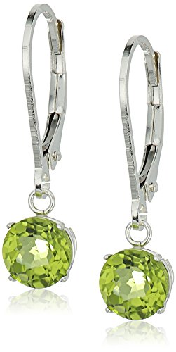 Sterling Checkerboard Gemstone Leverback Earrings