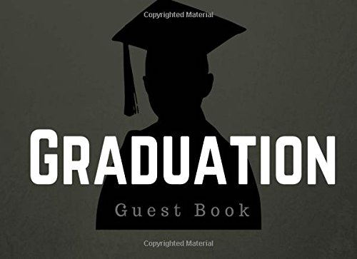 """Graduation Guest Book: Blank Lined Guest Book for Graduation Party, High School, College, Men and Women, 8.25"""" x 6"""" Size, Silhouette (Elite Graduation Guest Book) ebook"""
