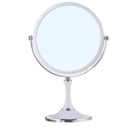 DFGJ Espejo Elíptico De Mesa De Espejo De Doble Cara De Maquillaje De Cosméticos De Moda