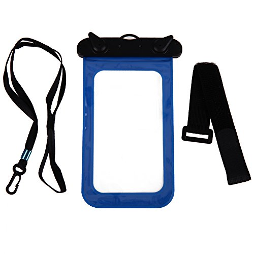"Alloet Swimming Waterproof Smart Phone Protect Pouch Bag with Strap Arm Belt for Smaller than 5.8"" Smart Phone"