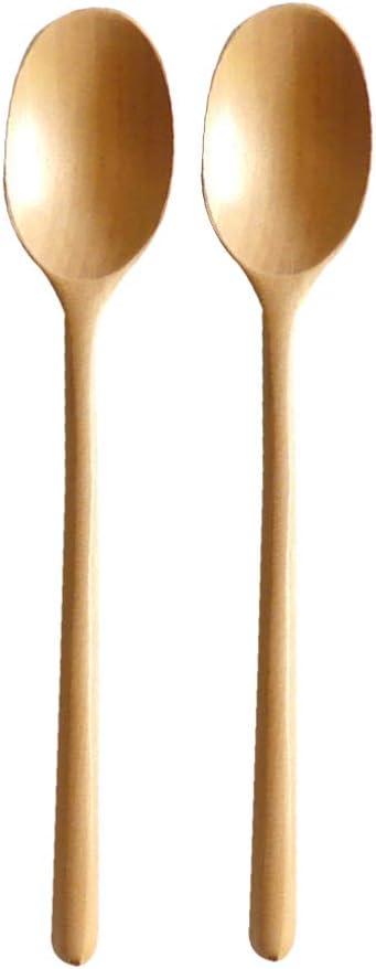Hemoton 2 piezas cucharas de madera largas cucharas de sopa de madera ecológicas cuchara de mango largo cuchara mezcladora para restaurante de cocina (marrón claro): Amazon.es: Hogar