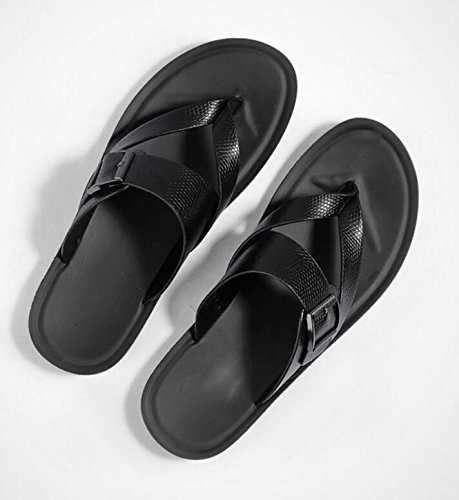 LQV New Herren Casual Sandalen Sommer New LQV Style Toe Personalisierte Hausschuhe Fashion Outer Beach Schuhe schwarza 063f95