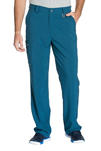- Cherokee Infinity by Men's Zip Fly Cargo Scrub Pant XXX-Large Caribbean Blue