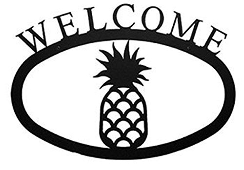 Iron Pineapple Home Address Welcome Sign Large - Heavy Duty Metal Welcome Home Signs, Door Signs, Outdoor Signs, House Sign, Hall Decoration, Address Signs - Wrought Iron Pineapple