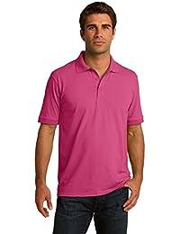 Men's Big & Tall Short Sleeve Jersey Knit Polo Shirt