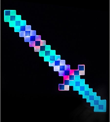 24 Inch Lumistick Light-up Diamond Pixel Sword - Blue