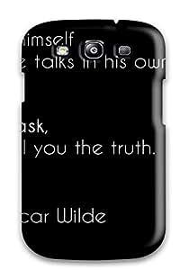 Megan S Deitz's Shop 7913902K37117371 Awesome Design Oscar Wilde Quote Hard Case Cover For Galaxy S3