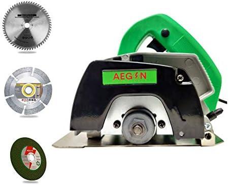Aegon Ac4 Made in India Heavy Duty Multipurpose Marble/Tile/Granite/Stone/Brick/Porcelain/Ceramic Cutter with 1 Blade, 1 Diamond Wheel & 1 Cutting Wheel (1050 W, 4 Inch, Green)