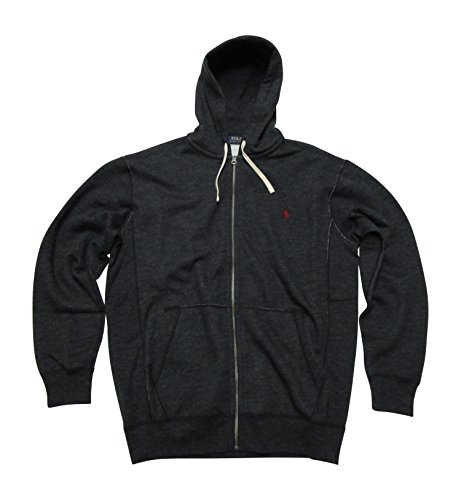 Polo Ralph Lauren Men's Big and Tall Full-zip Fleece Hoodie Sweatshirt (LT, Black)