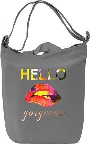 Helo Borsa Giornaliera Canvas Canvas Day Bag  100% Premium Cotton Canvas  DTG Printing 