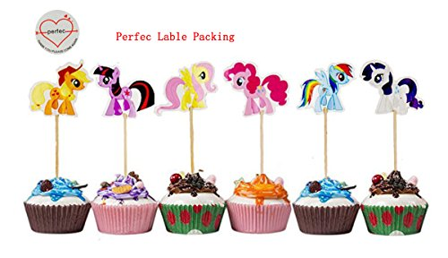 My Little Pony Cupcake Toppers Party Pack for 24 Cupcakes (My Little Pony Cupcake Wrappers)