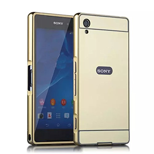 Sony Xperia XA Ultra Case, Ranyi [Mirror Series] Luxury Aluminum Metal Bumper Frame Detachable + Bling Mirror Hard Back Cover [Thin Fit & Slim] Case for Sony Xperia XA Ultra /Xperia C6 (gold)