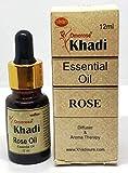 KHADI Omorose Rose Essential Oil with Self Dispensing Dropper Plug - 12ml