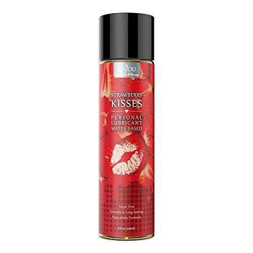 Personal Lubricant 8 oz Water Based Strawberry-Flavored Lube for Women, Men and Couples
