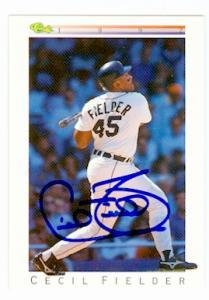 Cecil Fielder autographed baseball card (Detroit Tigers) ...