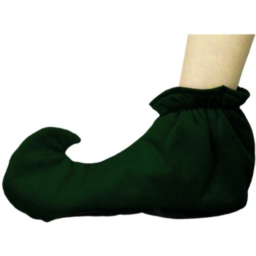 Green Elf Shoe Covers Adult Costume Accessory - -