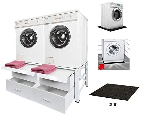 Estructura doble para lavadora, secadora, armario inferior ...