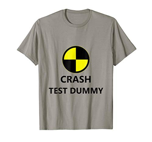 Crash Test Dummy Easy Last Minute Funny Halloween Costume T-Shirt