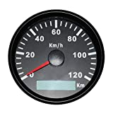 CT-CARID GPS Speedometer Gauge Waterproof 85mm 120km/h Speed Gague for Car Boat Yacht 9-32V with Speed Sensor