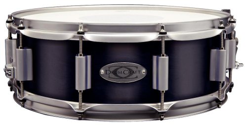 Drum Craft DC838021 Series 8 Maple 14 x 5 Inches Snare Drum - Electric Black by Drum Craft