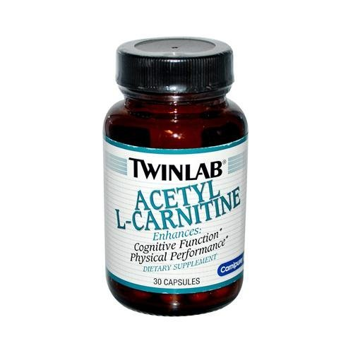 2 Packs of Twinlab Acetyl L-carnitine - 500 Mg - 30 Capsules