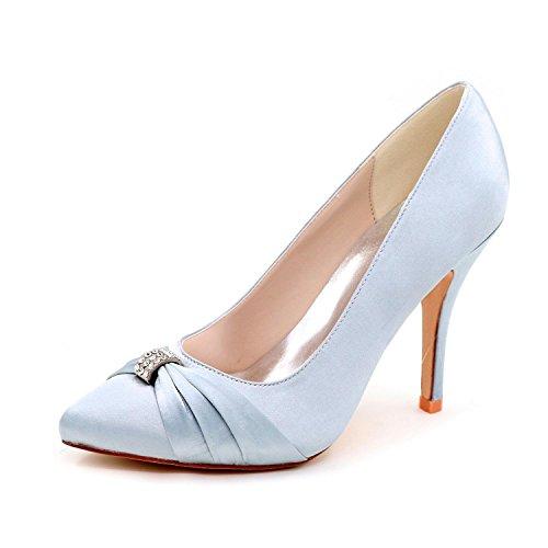 L@YC Women'S High Heels Spring / Summer / autumn Wedding Shoes / Round 0255-18 Party Evening Silver mxcIJXOEZ