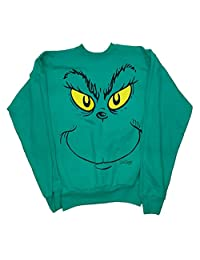 How the Grinch Stole Christmas Grinch Face Sweatshirt - Small