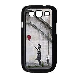 Banksy Art Graffiti Girl balloon for Samsung Galaxy S3 I9300 Case Cover RCX033176