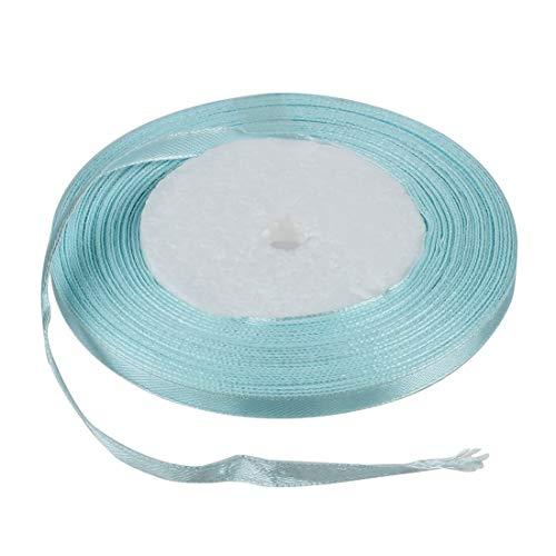- Satin Ribbon - Fashion Satin Ribbon Diy Crafts Hair Bows Decorations Sky Blue - White Machine FaceRose Belt Printer Dark Lavender Scarf Tiffany Happy Flowers Thin Bouquet Tape Ol