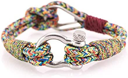 Thimble Nautical Bracelets by Constantin Nautics Awesome Handmade Bracelets of Nautical Sailing Rope Gift Idea for Men /& Women Large Variety with Stainless Steel Screw Barrel Clasps