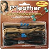 Pepperell Braiding P'leather Cord Variety Pack 54 Feet/Pkg: Black/Brown/Beige