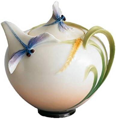 Franz Porcelain Dragonfly Sugar Jar