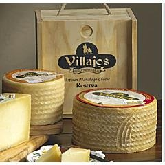 Villajos 'Reserva' Manchego Cheese in Wooden Box - 4 Pounds by La Tienda by Villajos