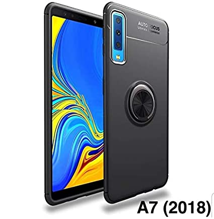 sports shoes 19195 1779d Spazy Case® Samsung Galaxy A7 (2018) Back Case Cover Shock Proof Ring Stand  for Samsung Galaxy A7 (2018)-Black