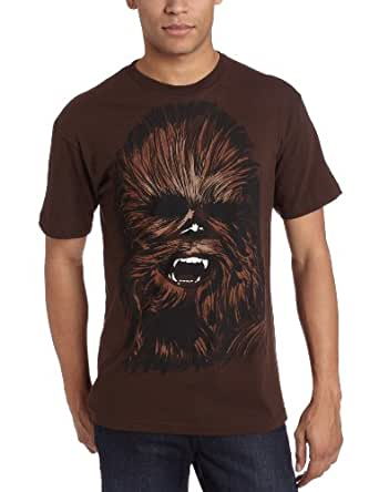 Mad Engine Men's Chewy Face T-Shirt, Brown, Large