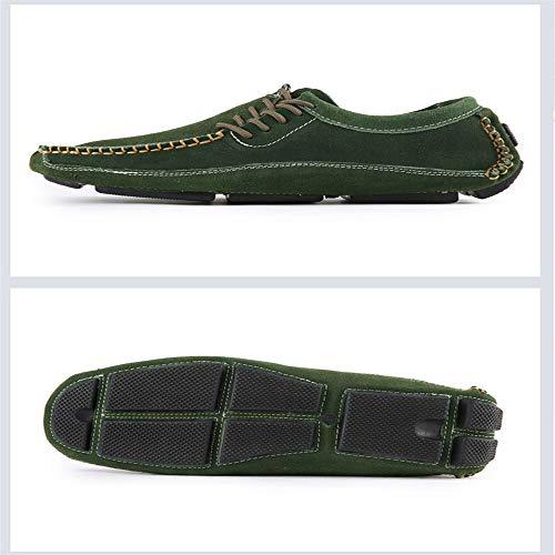 per Scarpe in Uomo Scarpe Guida Pelle Barca Colore Antiscivolo Verde 39 EU da comode Vera Stringate da Dimensione tFwrgF