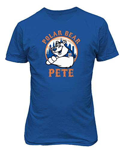(SMARTZONE New York Fans Alonso Polar Bear Pete Baseball Boys Girls Youth T-Shirt (Royal, Youth Small))