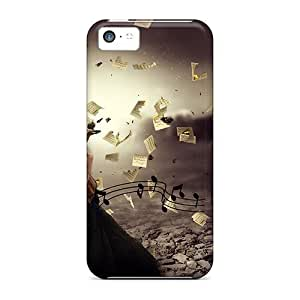 Tpu Fashionable Design Music Of My Heart Rugged Case Cover For Iphone 5c New