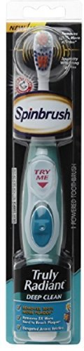 Spinbrush Truly Radiant Toothbrush, Deep Clean, Colors May Vary (Pack of 2)