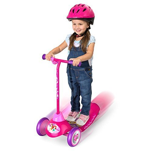 Pulse Performance Products Disney Princess Safe Start 3-Wheel Electric Scooter (Electric One Wheel Scooter)