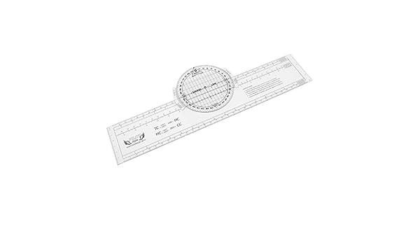 Shiwaki Plotter De Vuelo Giratorio De Plástico De 13.2 x 2.4 para Trazar Suministros De Navegación: Amazon.es: Bricolaje y herramientas