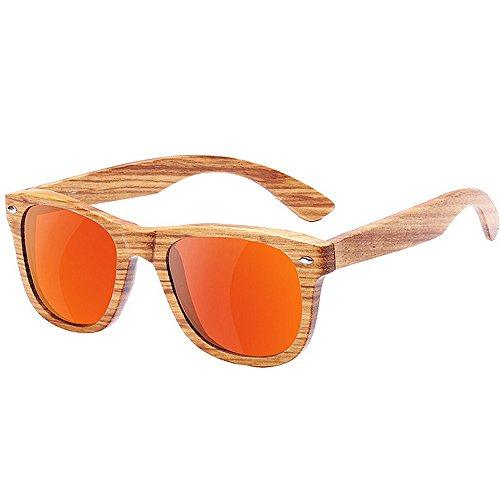 Dos Color Madera de Yxsd Patrón Brillante de Grano Red Espejo de de Lente Sol de SunglassesMAN de de Gafas Efecto Madera Tonos Red Madera UV400 wXxqpvTBn