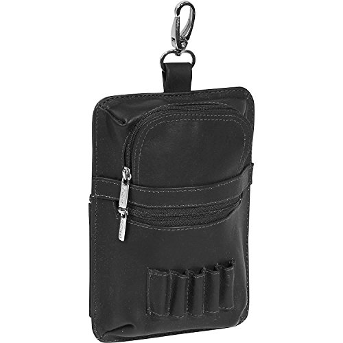 Piel Leather All In One Golf Pouch, Black, One Size