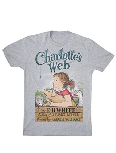 Out of Print Men's Charlotte's Web T-Shirt Large Heather Gray