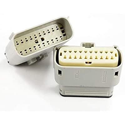 Molex Light Grey 20 Pin Wire Connector, Harley Waterproof, Sealed Kit, MX150 w/Connector Position Assurance: Automotive