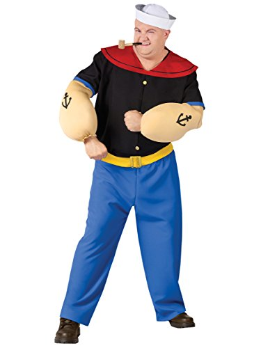 Popeye Costume - Plus Size - Chest Size 48-53